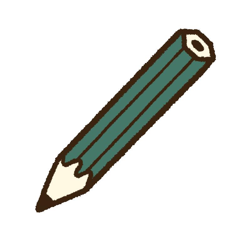 持ち手が緑色の鉛筆