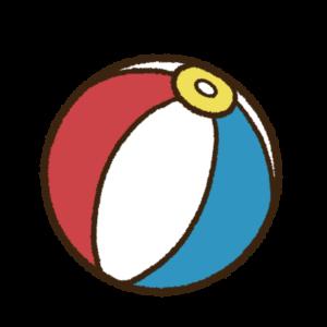 3色のビーチボール