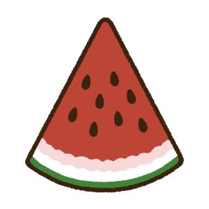 イチョウ切りの西瓜