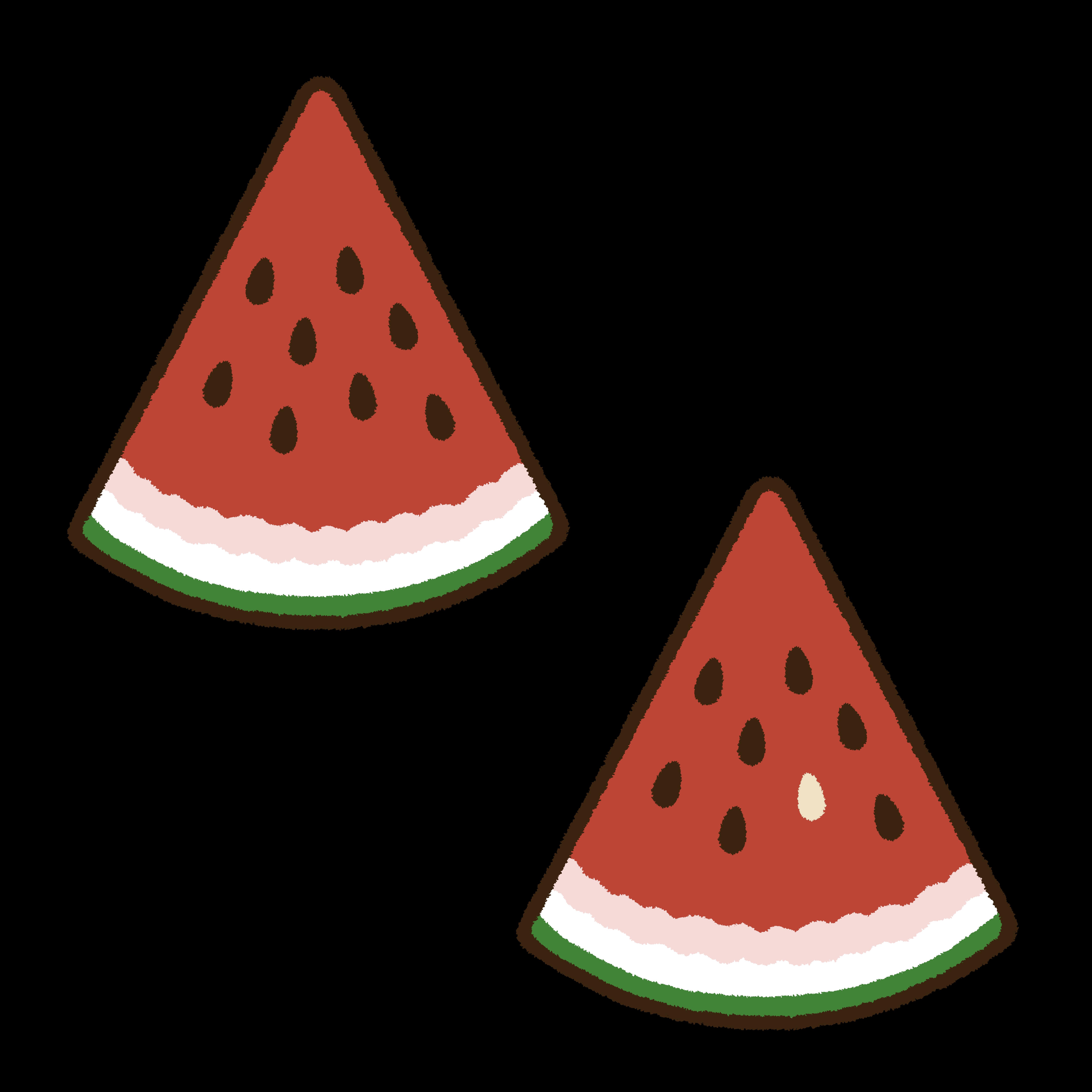 イチョウ切りの西瓜のサムネイル