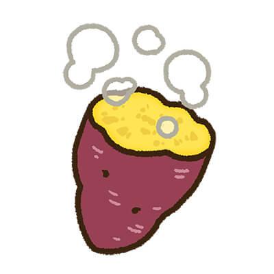 さつまいもの蒸し芋